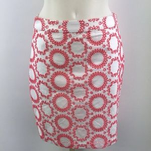 Banana Republic White & Pink Skirt Size 0